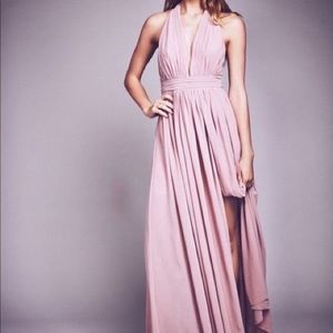 Fame & Partners Free People Athea Maxi Pink Gown 4